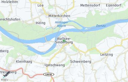 Stadtplan Wallsee-Sindelburg OT Ried
