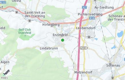 Stadtplan Enzesfeld-Lindabrunn