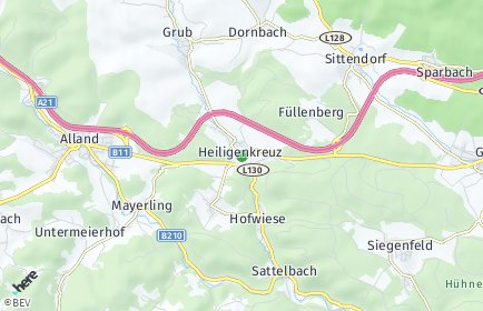 Stadtplan Heiligenkreuz (Niederösterreich)