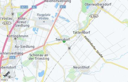 Stadtplan Teesdorf