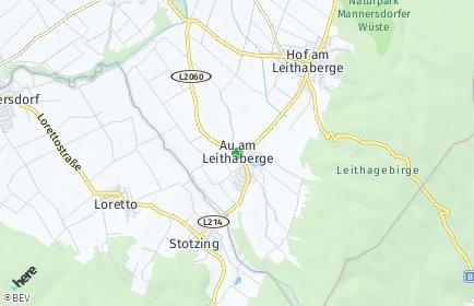 Stadtplan Au am Leithaberge