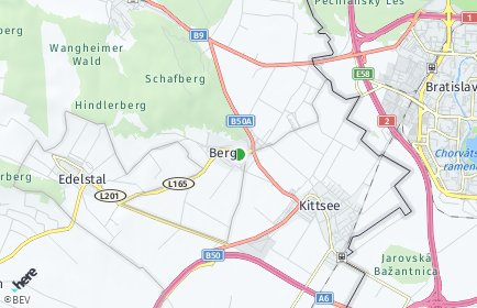 Stadtplan Berg (Niederösterreich)