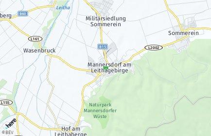 Stadtplan Mannersdorf am Leithagebirge
