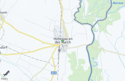 Stadtplan Hohenau an der March