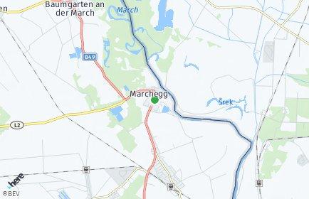 Stadtplan Marchegg