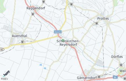 Stadtplan Schönkirchen-Reyersdorf