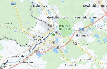 Stadtplan Gmünd (Niederösterreich) OT Grillenstein