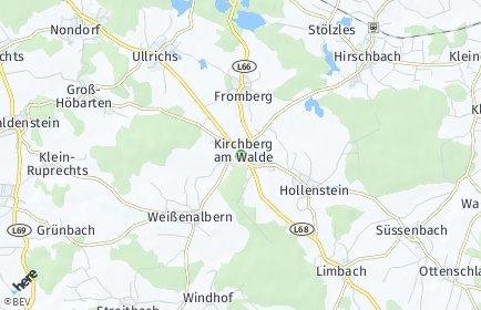 Stadtplan Kirchberg am Walde