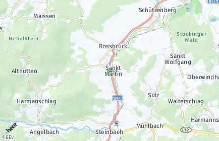 Stadtplan Sankt Martin (Niederösterreich) OT Joachimstal