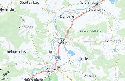 Stadtplan Unserfrau-Altweitra