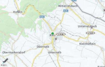 Stadtplan Retz