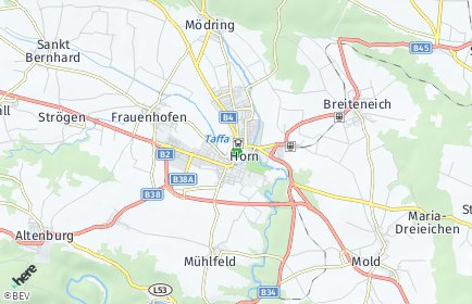 Stadtplan Horn