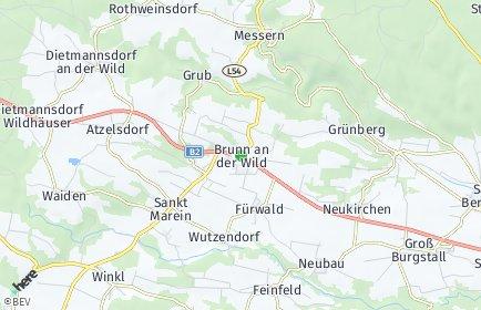 Stadtplan Brunn an der Wild