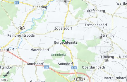 Stadtplan Burgschleinitz-Kühnring