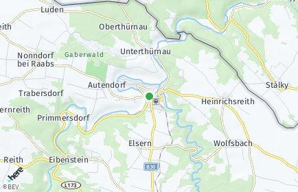 Stadtplan Drosendorf-Zissersdorf