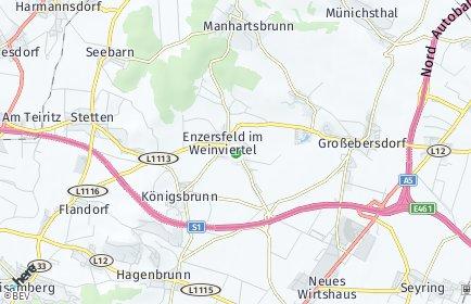 Stadtplan Enzersfeld im Weinviertel