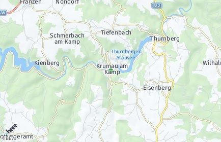 Stadtplan Krumau am Kamp