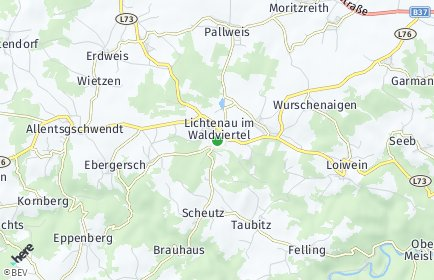 Stadtplan Lichtenau im Waldviertel