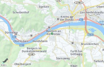 Stadtplan Mautern an der Donau