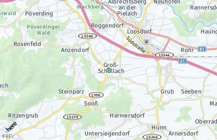 Stadtplan Schollach OT Merkendorf