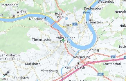 Stadtplan Ybbs an der Donau