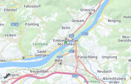 Stadtplan Emmersdorf an der Donau