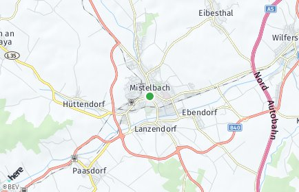 Stadtplan Mistelbach OT Hüttendorf