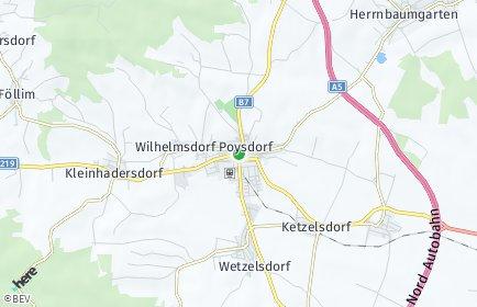Stadtplan Poysdorf OT Poysdorf