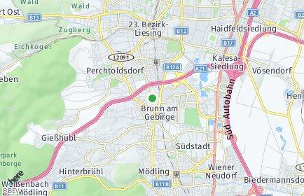 Stadtplan Brunn am Gebirge