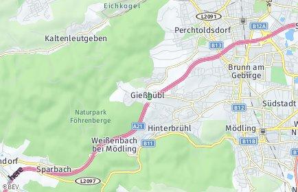 Stadtplan Gießhübl