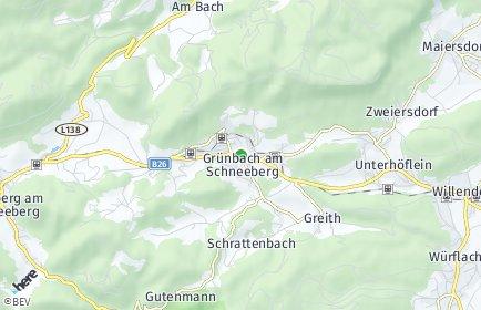 Stadtplan Grünbach am Schneeberg