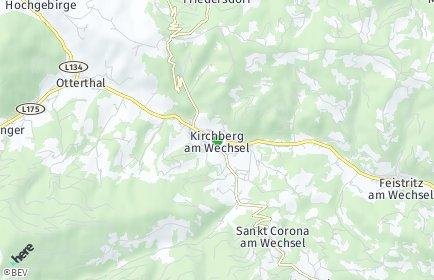 Stadtplan Kirchberg am Wechsel