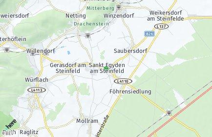 Stadtplan Sankt Egyden am Steinfeld