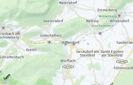 Stadtplan Willendorf