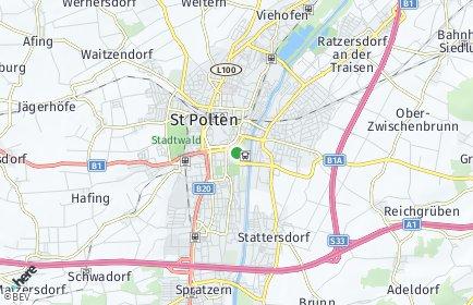 Stadtplan Sankt Pölten