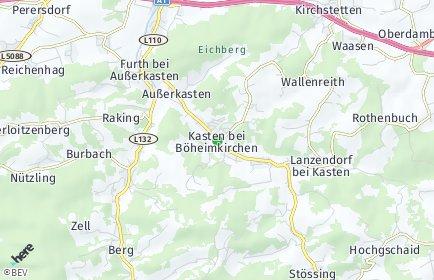 Stadtplan Kasten bei Böheimkirchen