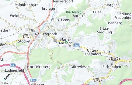 PLZ Maria-Anzbach Postleitzahl Niederösterreich Österreich