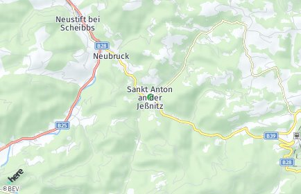 Stadtplan Sankt Anton an der Jeßnitz