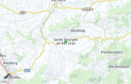 Stadtplan Sankt Georgen an der Leys