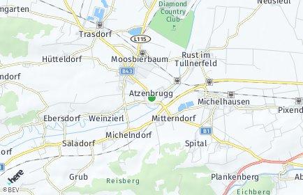 Stadtplan Atzenbrugg