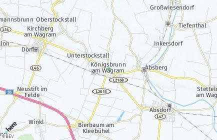 Stadtplan Königsbrunn am Wagram