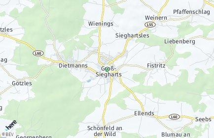 Stadtplan Groß-Siegharts