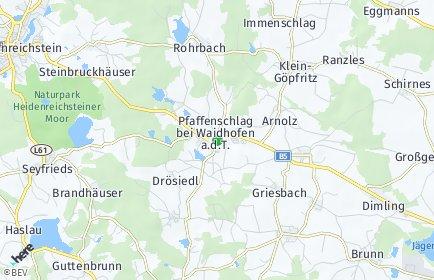 Stadtplan Pfaffenschlag bei Waidhofen an der Thaya