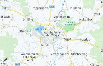 Stadtplan Waidhofen an der Thaya-Land OT Buchbach