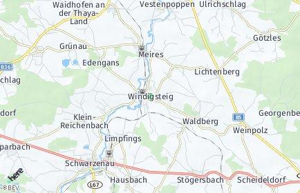 Stadtplan Windigsteig OT Matzlesschlag