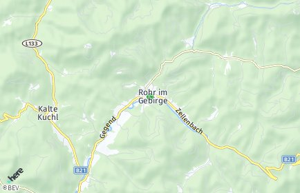 Stadtplan Rohr im Gebirge
