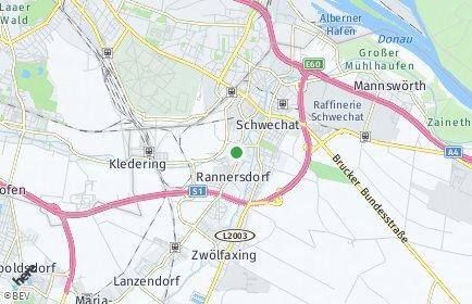 Stadtplan Schwechat OT Wien Flughafen