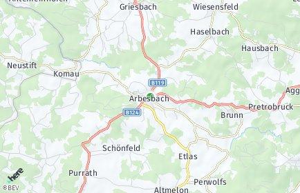 Stadtplan Arbesbach