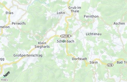 Stadtplan Schönbach
