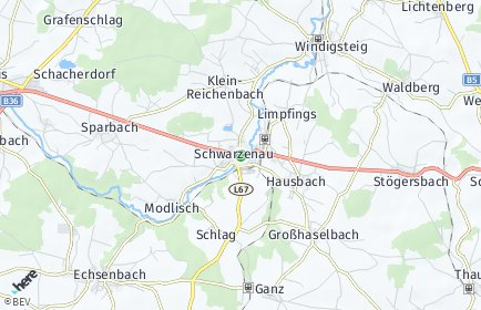 Stadtplan Schwarzenau
